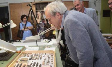 Ο Α. Μπαλτάς εγκαινίασε την προσωρινή έκθεση του Αρχαιολογικού Μουσείου Ρεθύμνου