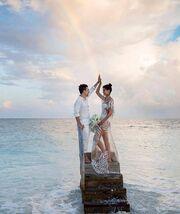 Ο παραμυθένιος γάμος γνωστού μοντέλου (Οι πρώτες φωτογραφίες από το μυστήριο)
