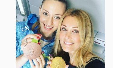 Τα συγχαρητήρια της Θεοδωρίδου στην Κορακάκη και η πόζα με τα μετάλλια