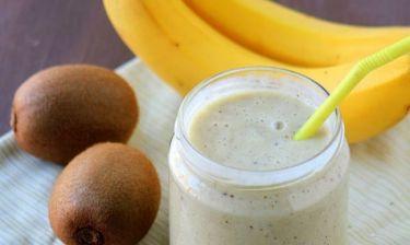 Δροσιστικό smoothie με ακτινίδιο και μπανάνα!