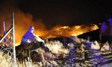 Πύρινη κόλαση στη Χίο: Έξι τραυματίες, σοβαρά μία γυναίκα (vid+pics)