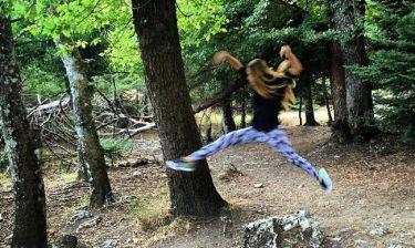 Η Αντωνία κάνει yoga στο… βουνό!
