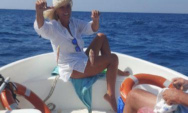 Τα πιάνει τα ψαράκια της η Μαρία Σταματέρη