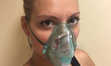 Η Αμέλια Αναστασάκη με μάσκα οξυγόνου! Τι συνέβη στη παρουσιάστρια;