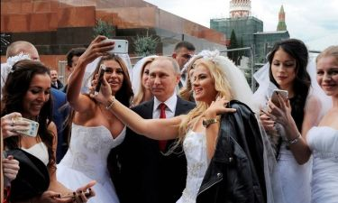 H selfie του Πούτιν στα γενέθλια της... Μόσχας (pics)
