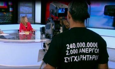 Το μήνυμα του εικονολήπτη του Star στον αέρα της Πόπης Τσαπανίδου