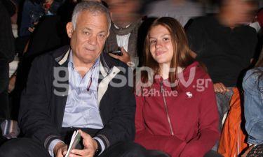 Ο Λάμπης Ταγματάρχης με την κόρη του στο Ηρώδειο