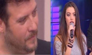 Λάμπης Λιβιεράτος: Η συγκίνησή του όταν είδε την κόρη του να τραγουδάει on air
