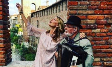 Τζένη Μπαλατσινού: Τα γυρίσματα στη Verona για την εκπομπή της