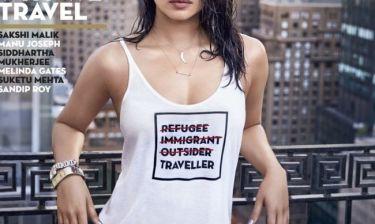 Σάλος με φωτογράφιση  ηθοποιού με το μπλουζάκι για... τους πρόσφυγες