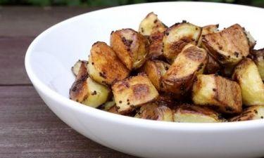 Ψητές πατάτες στο φούρνο με μουστάρδα: Απλά τέλειες