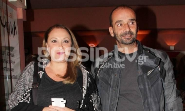 Σπάνια εμφάνιση της Ρένιας Λουιζίδου με τον σύζυγό της