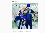 Νάταλι Κάκκαβα – Γρηγόρης Γκουντάρας: Κυριακάτικη βόλτα με τους γιους τους στην Ακρόπολη