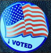 Καλομοίρα: Ψήφισε στις εκλογές της Αμερικής (φωτο)