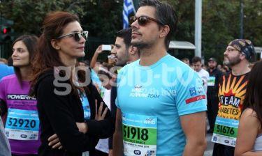 Κατερίνα Λέχου: Με τον σύζυγό της στον 34ο Αυθεντικό Μαραθώνιο της Αθήνας