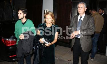 Ζαχαρέα-Ρουσόπουλος: Σπάνια δημόσια εμφάνιση με τον γιο τους, Βασίλη