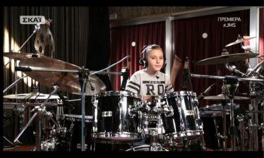 «Junior Music Star»: Γιατί ο μικρός ροκάς απείλησε τον ντράμερ από τις  «Melisses»;