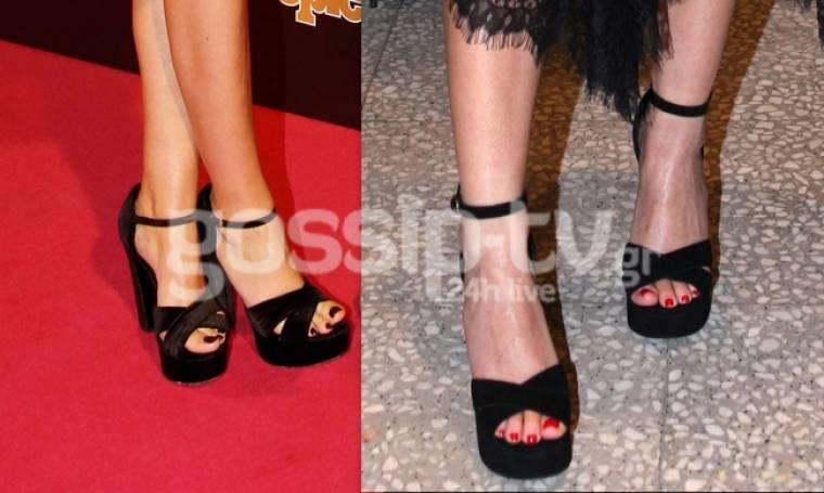 Έχουν το ίδιο γούστο στα παπούτσια.... Γιατί να το κρύψωμεν άλλωστε...