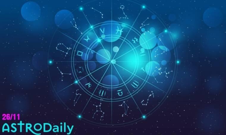 Ημερήσιες προβλέψεις για όλα τα ζώδια για το Σάββατο 26/11