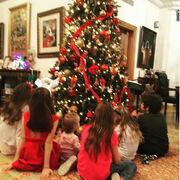 Στόλισε η Ελένη Μενεγάκη. Δείτε φωτογραφίες με τα παιδιά της στο χριστουγεννιάτικο δέντρο