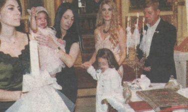 Βaby bloom: Ο Βαγγέλης Κονιτόπουλος βάπτισε την κόρη του (φωτό)