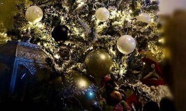 Ξενύχτησε για να στολίσει το χριστουγεννιάτικο δέντρο  της