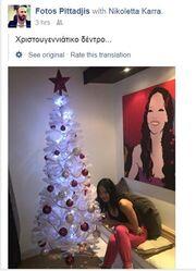 Νικολέτα Καρρά: Δείτε τη να ποζάρει δίπλα στο χριστουγεννιάτικο δέντρο της (φωτο)