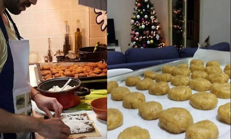 Έλληνας ηθοποιός ετοιμάζει χριστουγεννιάτικες λιχουδιές