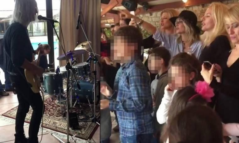 Όλοι στο πάρτι του Καρβέλα Junior – Πάνια και Βίσση χειροκροτούσαν μπαμπά και γιο να παίζουν μουσική