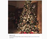 Εντυπωσιακό το χριστουγεννιάτικο δέντρο της….