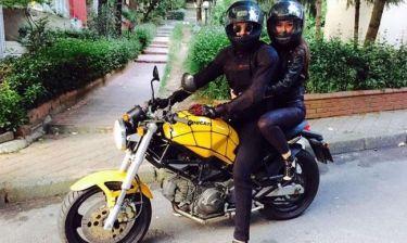 Easy riders η γνωστή ηθοποιός και ο σύζυγός της