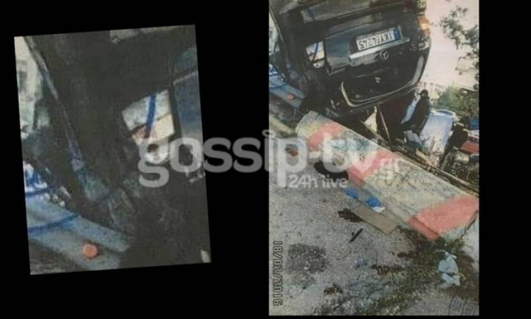 Εικόνα σοκ από το τροχαίο Παντελίδη.Τι φαίνεται στο παράθυρο του συνοδηγού; (Nassos blog)