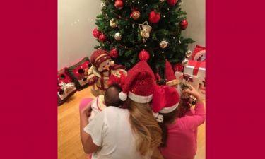 Τα πρώτα Χριστούγεννα της Δέσποινας Καμπούρη με τη μικρή Χριστίνα