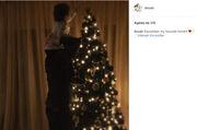 Αντώνης Σρόιτερ: Στόλισε Χριστουγεννιάτικο δέντρο αγκαλιά με τη μεγάλη του κόρη