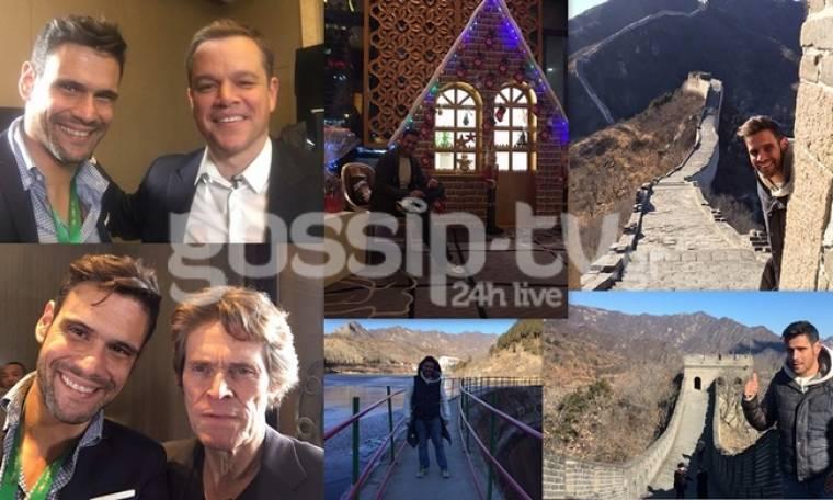Ο Ουγγαρέζος στην Κίνα με τον William Dafoe και τον Matt Damon!