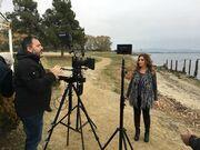 Πόπη Μαλλιωτάκη: Στα γυρίσματα του νέου της videoclip στη Θεσσαλονίκη (φωτο)