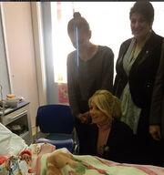 Φαίη Σκορδά: Η φωτογραφία μέσα από το νοσοκομείο