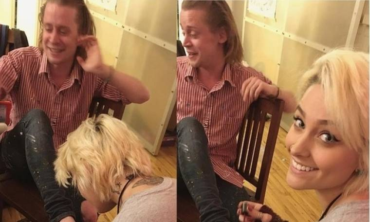 Η Paris Jackson έκανε… πεντικιούρ στον νονό της, Macaulay Culkin