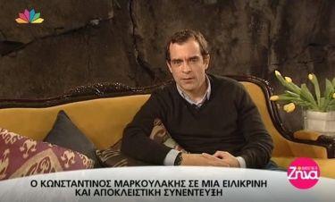 Μαρκουλάκης: Η μελαγχολία των εορτών, ο γιος του και η πολιτική