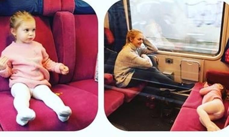 Meryem Uzerli: Η «Χουρέμ» ταξιδεύει με τρένο με την κόρη της