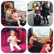 Meriem Userli: Η «Χουρέμ» ταξιδεύει με τρένο με την κόρη της