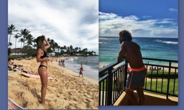Γιάννης Μαρακάκης - Νίκη Θωμοπούλου: Νέα φωτό από τα Χριστούγεννά τους στην Χαβάη