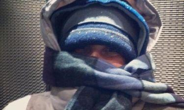 Κι όμως είναι η... Πρωτοψάλτη και βγαίνει βόλτα στη χιονισμένη Αθήνα!