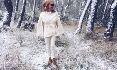 Τατιάνα Στεφανίδου: Στα λευκά μέσα στα χιόνια!