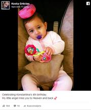 Ραγίζει καρδιές ο Κώστας Γρίμπιλας στο Facebook: «Αν ζούσε σήμερα θα ήταν 4 χρονών»