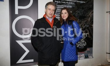 Αντιγόνη Δρακουλάκη: Με τον σύζυγό της στο θέατρο
