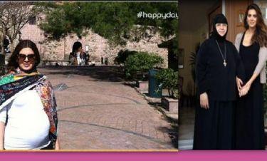 Τσιμτσιλή: Οι προσωπικές φωτογραφίες από την επίσκεψή της στο μοναστήρι της Μυτιλήνης