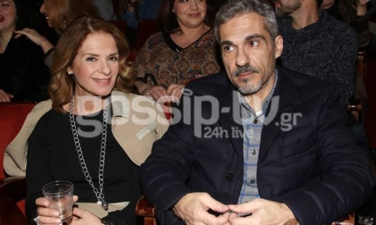 Σπάνια δημόσια εμφάνιση της Πέγκυς Σταθακοπούλου με τον σύζυγό της