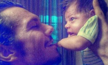 Ιωάννης Παπαζήσης: H πιο τρυφερή στιγμή με τον γιο του (φωτό)