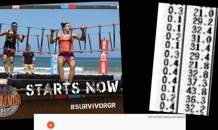 Πρώτο παντού το «Survivor»: Σε twitter και τηλεθέαση… Χτύπησε 45άρια στο νεανικό (Nassos blog)